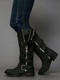 Marlo Zip Buckle Boot. Need these!!