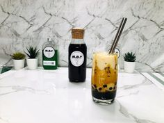 Ingredients · 2.5 Tablespoon of Brown Sugar Syrup · 1.5 Tablespoon Tapioca Pearls · 1 1/2 Cup of Ice Cube · A glass of milk More details of recipe please visit our website at : www.mybubbletea.com.au Coconut Milk Tea, Thai Milk Tea, Brown Sugar Syrup, Milk And More, Tapioca Pearls, My Bubbles, Fruit Tea, Strawberry Milk