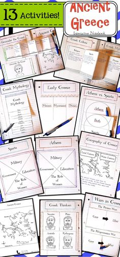 These 13 interactive notebook activities will help students organize information…