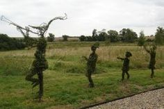 The Pied Piper of Hamelin topiaries