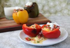 Mexican Style Scramble Stuffed Peppers | The Pescetarian and the Pig