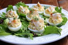 Crab deviled eggs