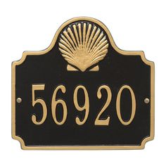 Personalized Conch Nautical Address Plaque - One Line. Available now at the best price only at www.everythingnautical.com #Nautical #Home #Decor #Gifts #Crocks