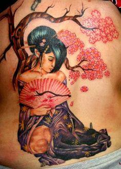 pinup tattoos for women | ... tatuajes de geisha, tattoos, tattoo designs, tattoo pictures, tribal
