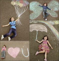 10 ideias criativas de cartão de Dia dos Avós feito pelas crianças - fotos com giz