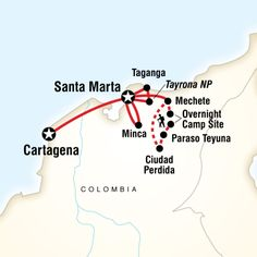 Colombia's Caribbean Coast & Lost City in Colombia, South America - Camping & Hiking Adventure