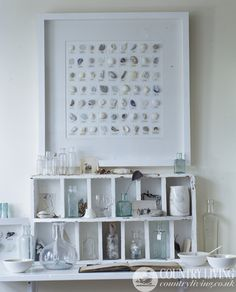 Display your favourite finds. Photo: David Montgomery http://www.countryliving.co.uk/homes-interiors/interiors/display-favourite-finds