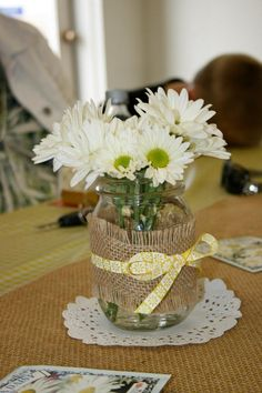 Bridal Shower ideas including yellow/country decor, food and games!