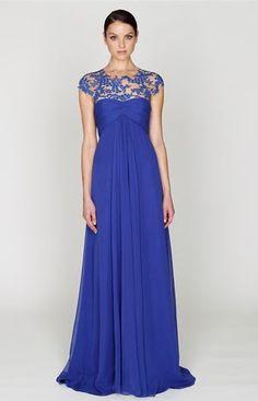 vestido de renda longo azul 1