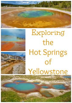 Life With 4 Boys: The Many Colors of the Hot Springs of Yellowstone #70DayRoadTrip #Travel