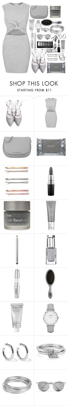 """GRAY"" by allyyy09 ❤ liked on Polyvore featuring River Island, MICHAEL Michael Kors, Dermalogica, Madewell, MAC Cosmetics, Bliss, Laura Mercier, Clinique, The Wet Brush and African Botanics"