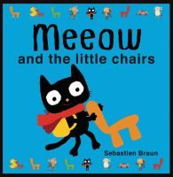 Meeow and the Little Chairs by Sebastien Braun. Cute story about animals that make a a train out of chairs. Colors AND animal sounds! Great for toddlers.