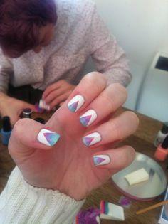 Gradient Triangles #NailArt #Nails #NailPolish #NailDesign
