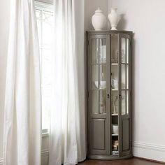 Ballard Designs Full Chilton Curved Corner Cabinet $1200