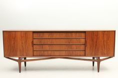 Low credenza, stamped - made in Denmark - designed and produced around 1960.  www.reModern.dk