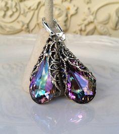 New Swarovski Vitrail Light Crystal Vintage by HisJewelsCreations, $40.00