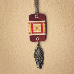 camille  a long boho suede and feather by RootsandFeathers on Etsy, $56.00