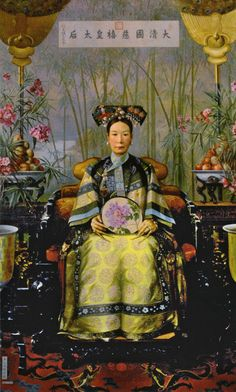 The Empress Dowager Cixi (Tzu Hsi) 慈禧太后. This painting was painted by Hubert Vos in 1906, the Dutch American painter, whose painting was presented to Empress Cixi at her seventy-first birthday. It is now at the Summer Palace (Yiheyuan) in Beijing at at the Hall of Dispelling Clouds, (PaiyunDian).