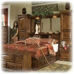 Furniture Traditions - Mid Wall Bed, Headboard Storage, American ...