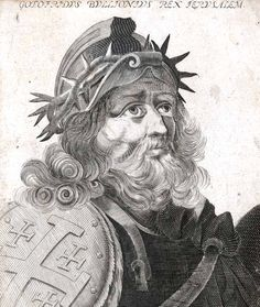 Godefroy de Bouillon, a French knight, leader of the First Crusade and founder of the Kingdom of Jerusalem.