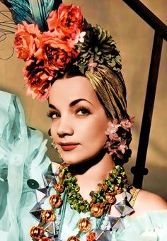Carmen Miranda in her version of toned down  ' That Night in Rio' (1941). Description from pinterest.com. I searched for this on bing.com/images