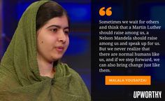 Malala goes on 'The Daily Show' and brings a powerful message with her.