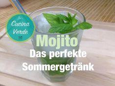 Mojito-Cocktail - Rezept von Joes Cucina Verde Rum, Mojito Cocktail, Cocktails, Mint, Party Drinks, Craft Cocktails, Cocktail, Rome, Drinks