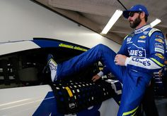 Jimmie Johnson Photos Photos - Jimmie Johnson, driver of the #48 Lowe's Chevrolet, climbs into his car during practice for the 59th Annual DAYTONA 500 at Daytona International Speedway on February 25, 2017 in Daytona Beach, Florida. - Daytona International Speedway - Day 9