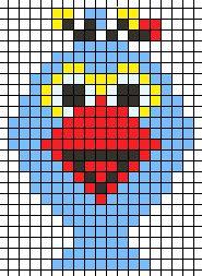 Sesame Street perler  bead pattern