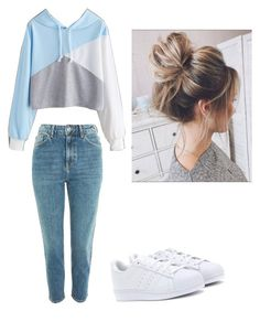 """""""Untitled #65"""" by haileymagana on Polyvore featuring Topshop and adidas Originals"""