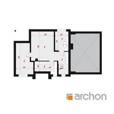 Dom w śliwach 2 Compact House, Modern House Plans, Home Design Plans, Facade House, Modern Architecture, Building A House, Floor Plans, Houses, How To Plan
