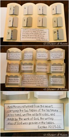 Shower of Roses: The Ten Commandments {Catechism Craft with Free Printables!}