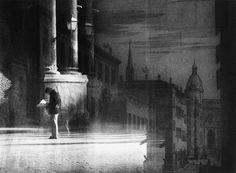 Photo Montage. Man Reading. Sam Haskins c1980