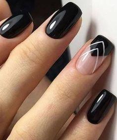 Popular Black Nail Art Designs 2018 for Prom Popular Black Nail Art Designs 2018 for Prom - Nail Designs Elegant Nail Designs, Black Nail Designs, Elegant Nails, Cute Nail Designs, Black Nail Art, Black Nails, Subtle Nail Art, Nail Art Hacks, Fancy Nails