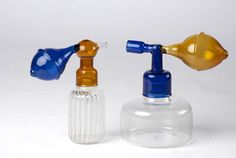 """Collection of Table Perfumes """"Atomizer"""" // Attico Cristina Celestino, Perfume Atomizer, Spray Bottle, Cleaning Supplies, Fragrance, Glass, Table, Collection, Objects"""