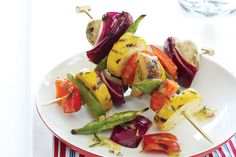 Nothing showcases the flavor of fresh-picked summer vegetables better than a great homemade marinade featuring lemon and fresh rosemary and a quick sear on the grill.