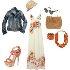 Summer outfit. Maybe w/ sandals instead..I'd kill myself walking in those shoes!