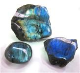 Labradorite Polished pieces - A stone of magic and protection. http://www.heartoftheearth.com.au/retail/polished-items/freeform/labradorite