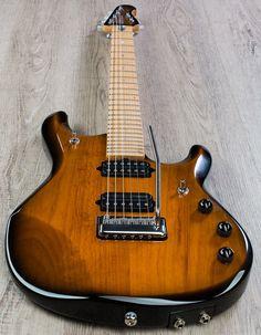 Ernie Ball Music Man JP6 John Petrucci PDN Electric Guitar, Matching Headstock, Hard Case - Vintage Tobacco Burst - Instruments