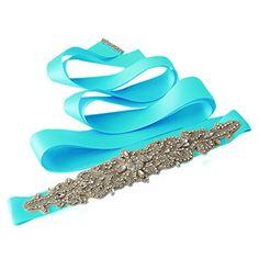 azaleas Women's Crystal Wedding Belt Sashes Bridal Sash Belts for Wedding