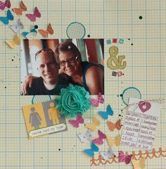 "Layout by DT member, Rebecca, using the Scrapbook Circle ""The Good Life"" kit"