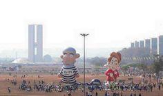 Folha Política: Protesto em Brasília durante desfile de 7 de setembro conta com 'Dilma Pinóquia' ao lado de Lula presidiário; veja vídeo