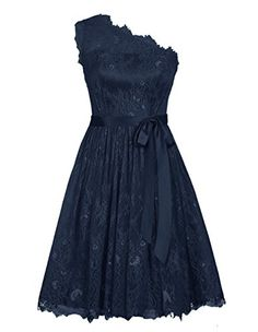 Diyouth Elegant Short One Shoulder Lace Flower Prom Bridesmaid Dress Navy Size 2 Diyouth http://www.amazon.com/dp/B00XY5GYLM/ref=cm_sw_r_pi_dp_E42ewb1EXS48N