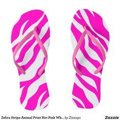 Zebra Stripe Animal Print Hot Pink White