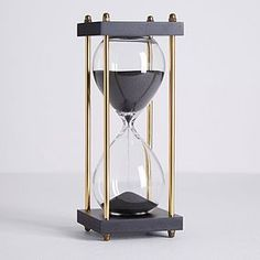 Give your decoration an elegant touch with this classic hourglass. Beautifully crafted with black sand and smoky glass and gold colourway finish, this stunning hourglass offers approximately 30 minutes timer and is sure to be a centre piece for your home. Home Bedroom Design, Gold Bedroom Decor, Bedroom Ideas, Pink Home Accessories, Decorative Accessories, Accessories Online, Bathroom Accessories, Living Simple Life, Sand Glass