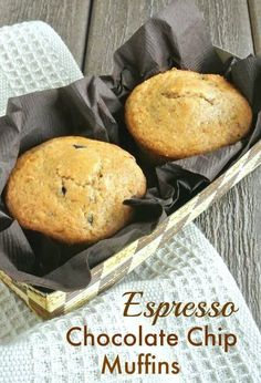 Espresso Chocolate Chip Muffins are deep rich muffins that are easy to make and you deserve that extra oomph of chocolaty goodness.