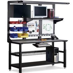 Craftsman Mobile Worktable #industrialfurniture #industrial #desks #industrialworkbench #workbenchwithstorage