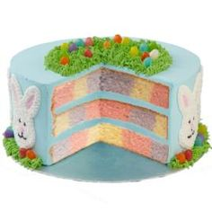 Easter bunny checkerboard cake