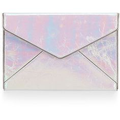 Rebecca Minkoff Leo Clutch ($63) ❤ liked on Polyvore featuring bags, handbags, clutches, purses, accessories, rebecca minkoff purse, man bag, rebecca minkoff clutches, party clutches and rebecca minkoff handbags