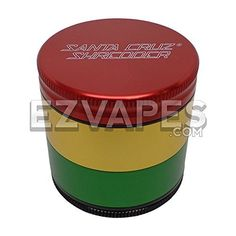 Santa Cruz Shredder 4 Piece Rasta Colored Aluminum Grinder  Medium 53mm 3 Stage Sifting Grinder  21 Inches Wide * Check out this great product.